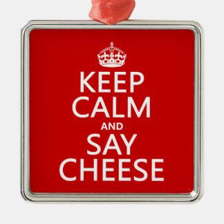 Behalten Sie ruhig und sagen Sie Käse (Fotografie) Silbernes Ornament