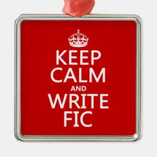 Behalten Sie ruhig und schreiben Sie Fic - alle Silbernes Ornament