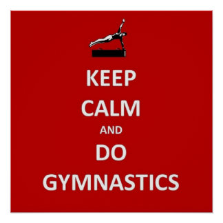 Behalten Sie ruhig und tun Sie Gymnastik Poster
