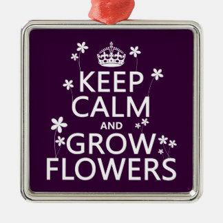 Behalten Sie ruhig und wachsen Sie Blumen (in Silbernes Ornament
