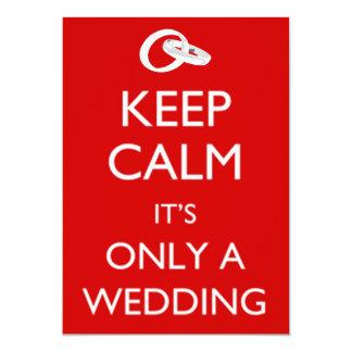 Behalten Sie ruhige Hochzeits-Einladung 12,7 X 17,8 Cm Einladungskarte