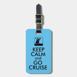 Behalten Sie ruhige Kreuzfahrt Koffer Anhänger