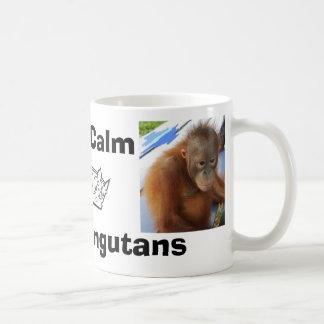 Behalten Sie ruhige Liebe-niedliches Orang-Utan Tasse
