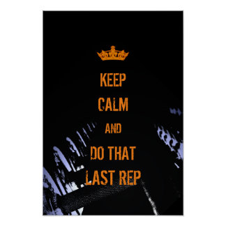 Behalten Sie ruhige lustige Abdeckungs-Fitness Poster