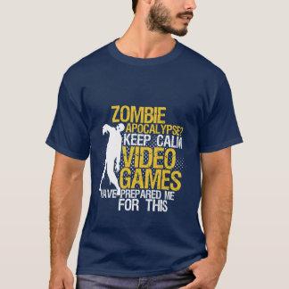 Behalten Sie ruhige lustige Spiel-T - T-Shirt