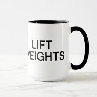 Behalten Sie ruhige u. Aufzug-Gewichts-Tasse - Art Tasse