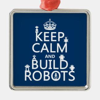 Behalten Sie ruhige und Gestalt-Roboter (in Silbernes Ornament