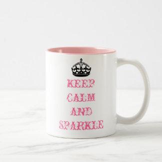 Behalten Sie ruhige und Schein-Tasse Zweifarbige Tasse