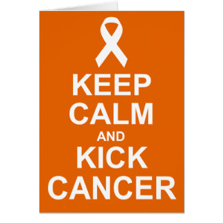 Behalten Sie ruhige und Tritt-Krebskarte Karte