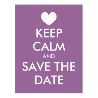Behalten Sie ruhigen Save the Date Postkarte |