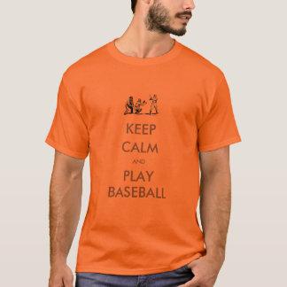 Behalten Sie ruhigen Shirt-Baseball T-Shirt
