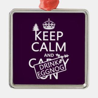 Behalten Sie ruhiger und Getränk-Eierpunsch Silbernes Ornament