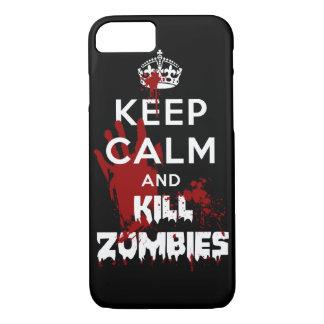 Behalten Sie ruhiger und Tötungs-Zombies iPhone 7 iPhone 8/7 Hülle