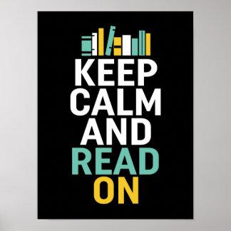 Behalten Sie ruhiges gelesen auf Plakat für