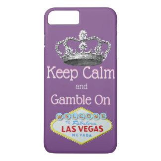 Behalten Sie ruhiges Glücksspiel auf Las Vegas iPhone 8 Plus/7 Plus Hülle