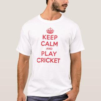 Behalten Sie ruhiges Spiel-Kricket T-Shirt