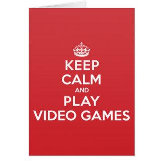 Behalten Sie ruhiges Spiel-Videospiele, Karte