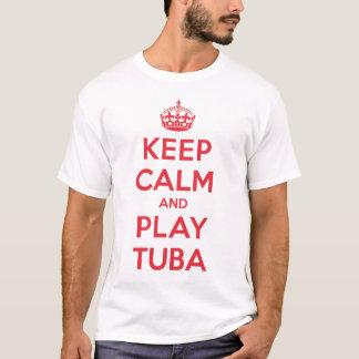 Behalten Sie ruhiges Spieltuba-Shirt T-Shirt