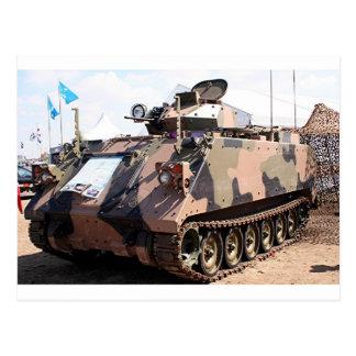 Behälter: gepanzertes Militärfahrzeug Postkarte