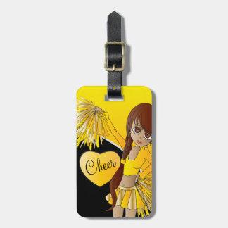 Beifall-Diva-Gelb-Cheerleader Kofferanhänger