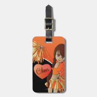 Beifall-Diva-Orangen-Cheerleader Gepäckanhänger