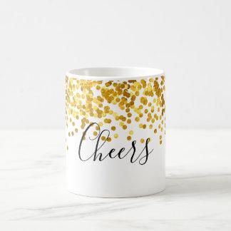 Beifall-Goldpolka-Punktconfetti-Kaffee-Tasse Kaffeetasse