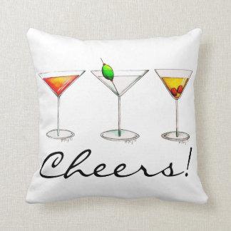 Beifall! Kissen Cocktail-Mischgetränk-Martinis