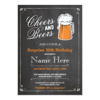 Beifall-u. Bier-Geburtstags-Party, das JEDES 12,7 X 17,8 Cm Einladungskarte