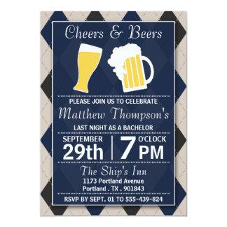 Beifall u. Bier-Trendy Marine-Junggeselle-Party 12,7 X 17,8 Cm Einladungskarte