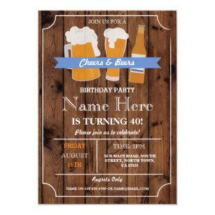 Biere GRILLEN Geburtstags Party, Das Einladung