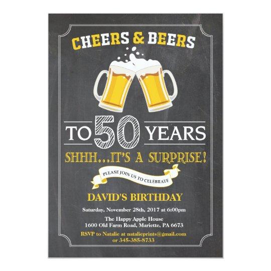 Beifall-und Bier-50. Geburtstags-Einladungs-Karte Karte