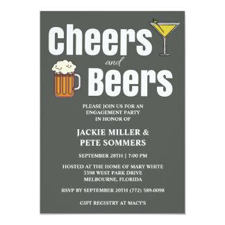 Beifall-und Bier-Verlobungs-Party Einladung