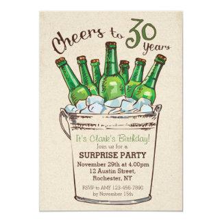 Beifall zu 30 Jahren Geburtstags-Einladung 12,7 X 17,8 Cm Einladungskarte