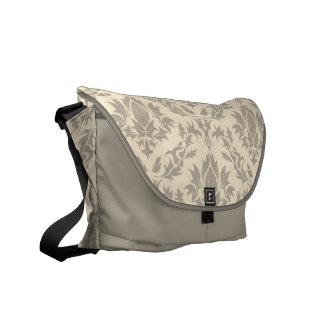 Beige Damast-Muster-Bote-Tasche Kuriertaschen