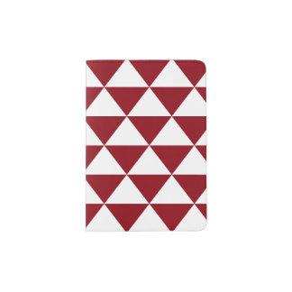 Beige Dreieck-Muster Passhülle