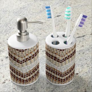 Beige Mosaik-Bad-Set Badezimmer-Set