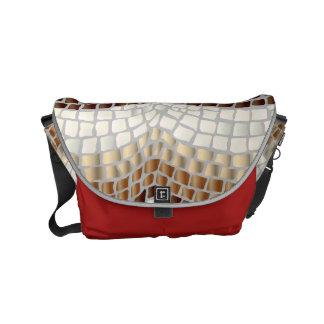 Beige Mosaik-kleine Bote-Tasche Kurier Tasche