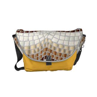 Beige Mosaik-kleine Bote-Tasche Kuriertaschen