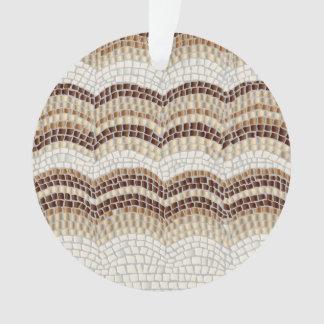 Beige Mosaik-Kreis-Verzierung Ornament