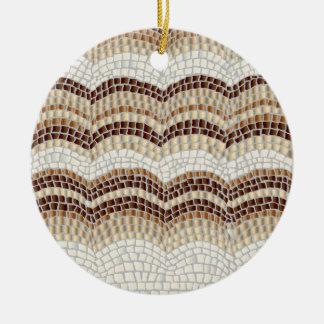 Beige Mosaik-Kreis-Verzierung Rundes Keramik Ornament