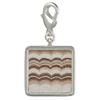 Beige Mosaik-Quadrat-Charme Foto Charms