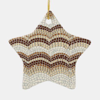 Beige Mosaik-Stern-Verzierung Keramik Stern-Ornament