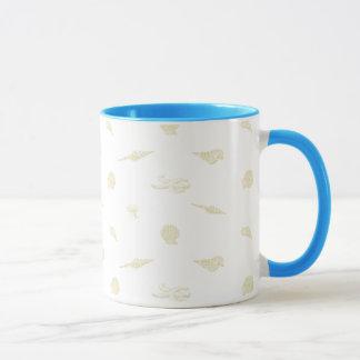 Beige SeeSeashellmuster-Tasse Tasse