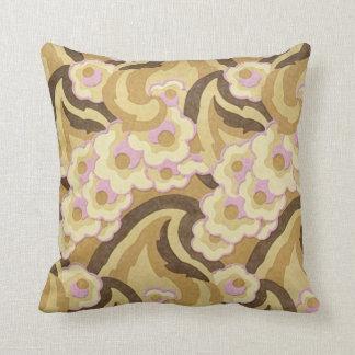 Beige und rosa Kunst-Deko-Entwurf Kissen