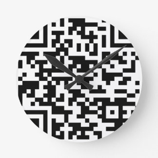 BeispielBitcoin QR Code Runde Wanduhr