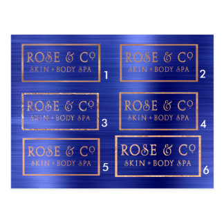 BeispielRosen-Goldkobalt-Blau-Smaragd Postkarte