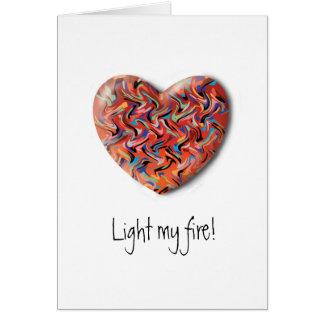 Beleuchten Sie meine Feueranmerkungskarte Karte