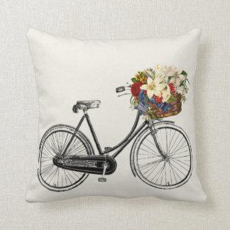 Beleuchten Sie weg vom Fahrrad-Blume Throwkissen   Kissen