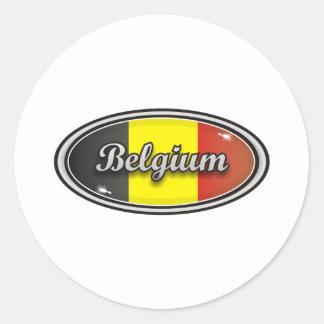 Belgien Runder Aufkleber