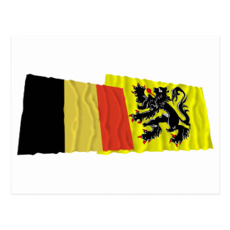 Belgien- und Flandern-Regions-wellenartig Postkarte